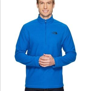 The North Face Blue Long Sleeve Half Zip Pullover